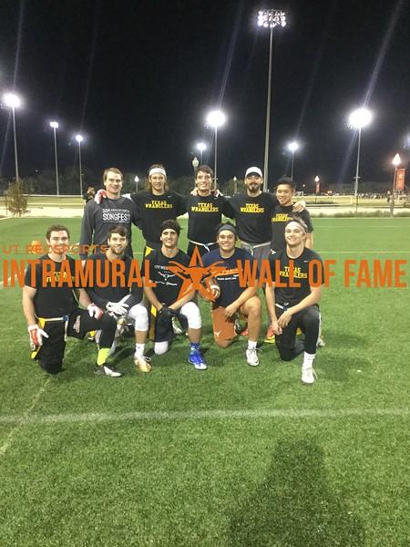 Fall 2017 Flag Football Men's A Champion Texas Wranglers