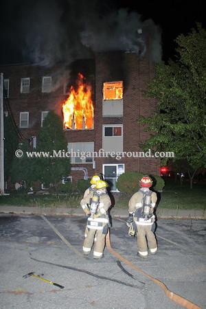 10/28/11 - Lansing apartment building fire, 108 S. Hosmer St