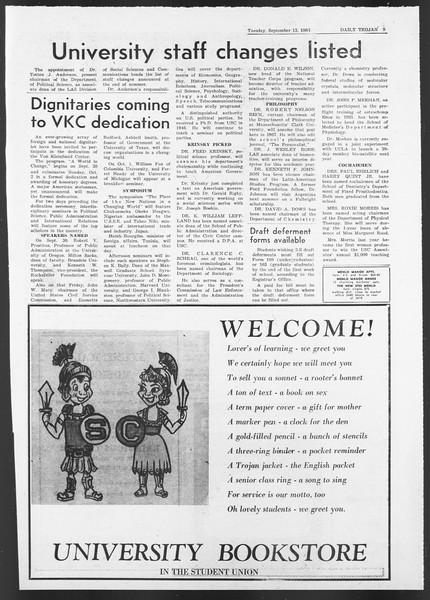 Daily Trojan, Vol. 58, No. 1, September 13, 1966