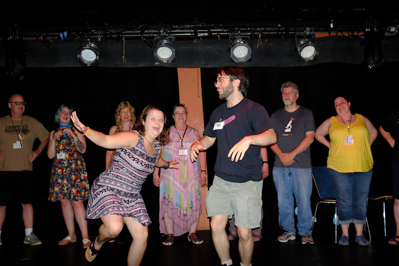 Comedy improv at the Pub