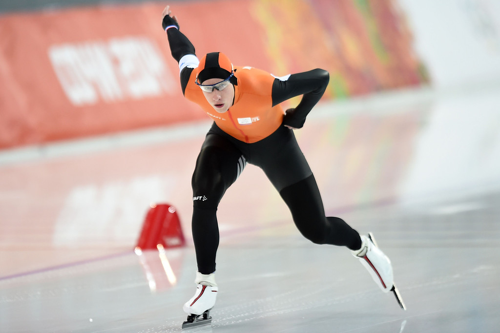 . Netherlands\' Jan Blokhuijsen competes in the Men\'s Speed Skating 1500 m at the Adler Arena during the Sochi Winter Olympics on February 15, 2014.        JUNG YEON-JE/AFP/Getty Images