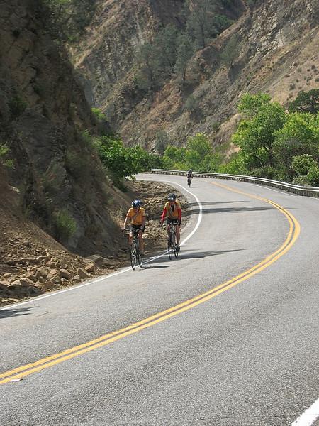 Descending Cache Creek Canyon