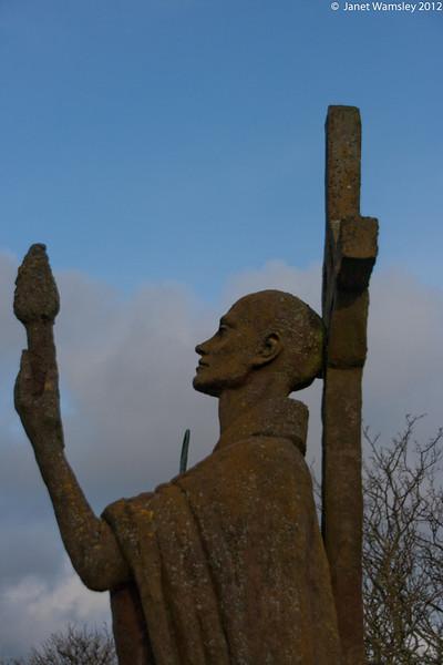 Sillhoutte of Fr. Aiden statue