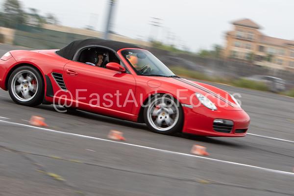 Custom Gallery - Red Porsche Boxster -Black Racing Stripes