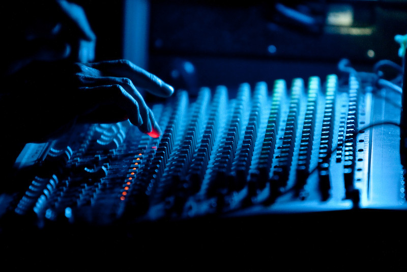 The Tech Touch.  Paul working the sound board during the circus.