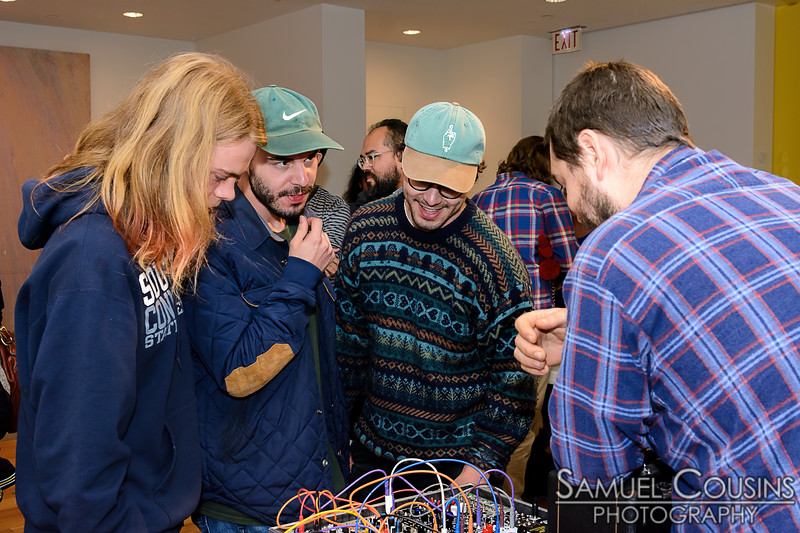 The Synth Petting Zoo at the Portland Museum of Art.