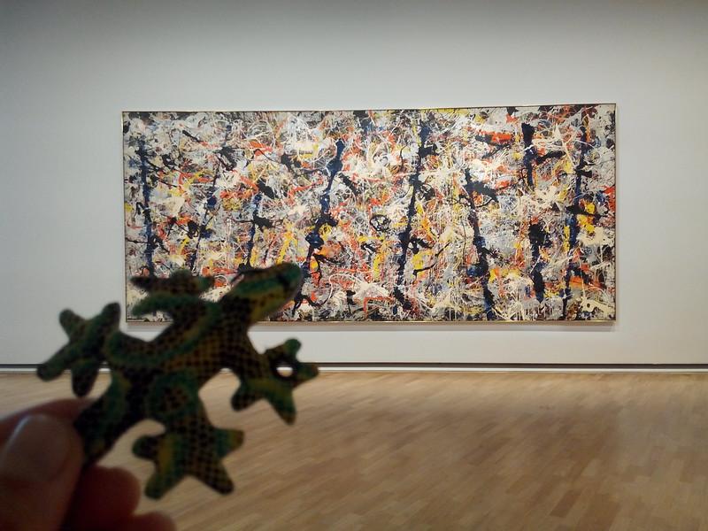 "Sammy appreciates man-made beauty too. Jackson Pollock's ""Blue Poles"" is beautiful."
