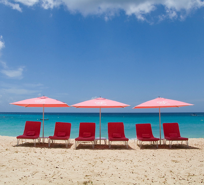 Sandy Lane Hotel Beach Umbrellas