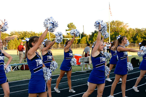 Trinity Fans and Cheerleaders at Rankin Game