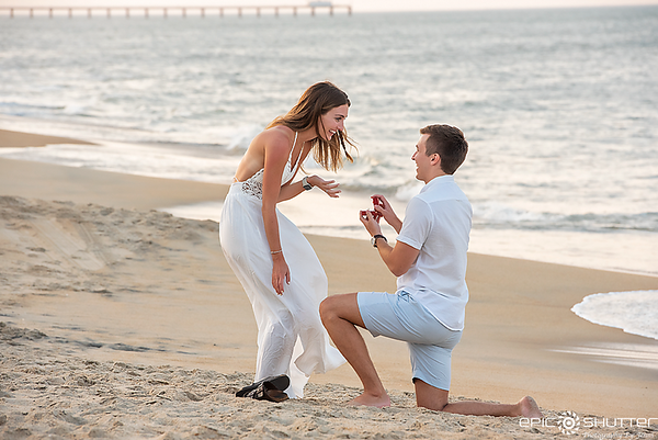 Tyler and Annie, Proposal Portraits, Outer Banks Photographer