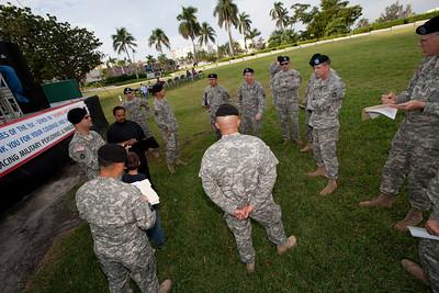 December 5th, 2009 Florida Army's 1st Battalion 124th Infantry Regiment sendoff event at the ArtsPark