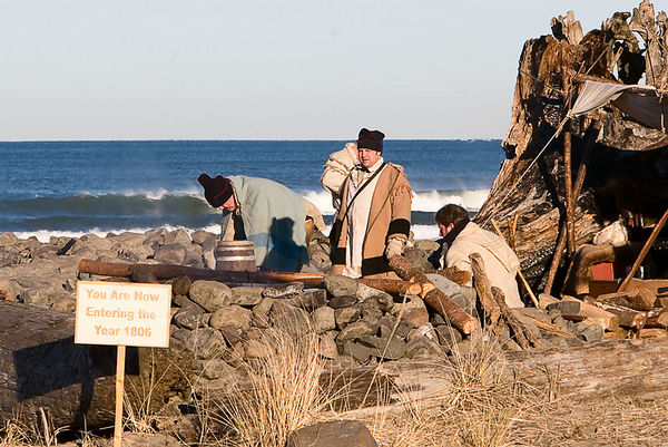 Return of the Salt Makers - Lewis and Clark Bicentennial Reenactment at Seaside Oregon