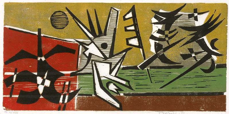 "Werner Drewes, ""At Play no. 3 (Fight)"" (1973)"