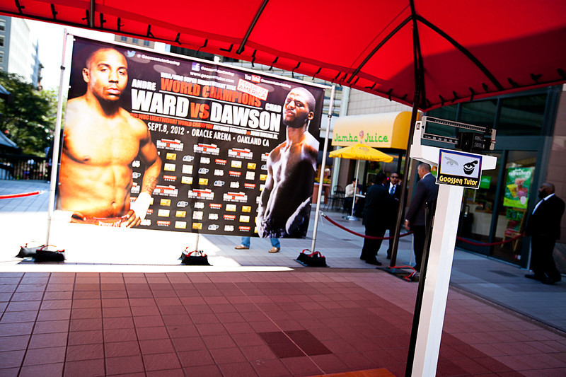 Andre Ward Weigh In at Oakland City Center