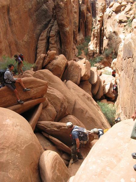 Lots of rock scrambling - both up and down.