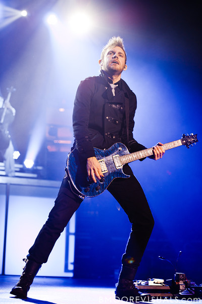 Seth Morrison of Skillet performs on January 14, 2012 at Tampa Bay Times Forum during Winter Jam in Tampa, Florida