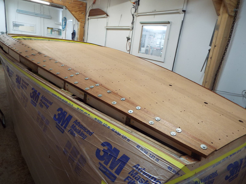 Port side cover boards installed.