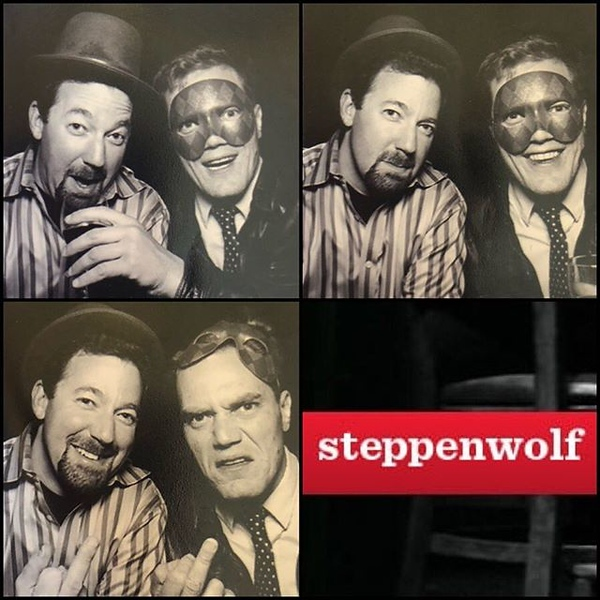 "A #tbt to that night when @officialmichaelshannon said, ""Sure, let's do the photo booth together"" at a @steppenwolfthtr charity event"