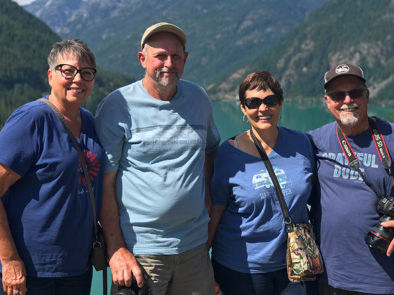 Visit with Tracy and Debbie  in North Cascades National Park