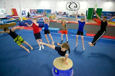 Boys at Gymnastics Camp