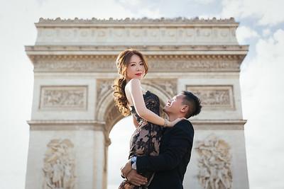 Pre-wedding   Cristina + Justin in Paris