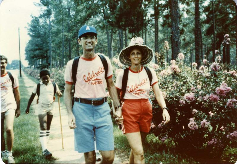 1983 - Walk to Indianapolis. Going through Thomasville, GA