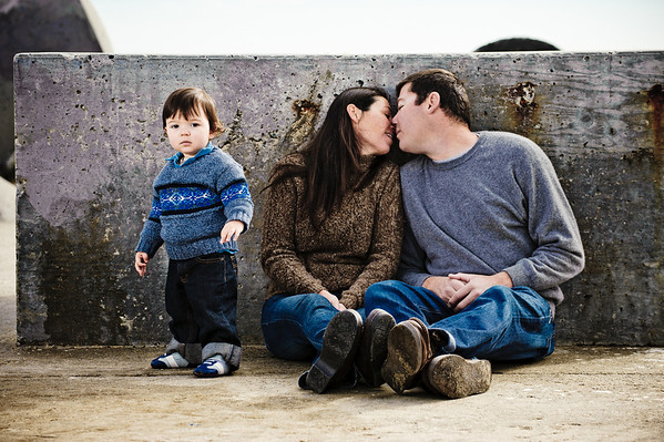 Craig + Danielle = Vaden (Family Photography, Seabright Beach, Santa Cruz)