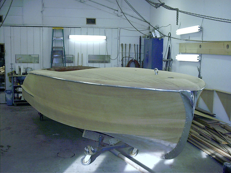 Starboard front view of completed wood work.