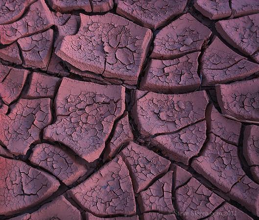 Mud cracks in wash at Death Valley