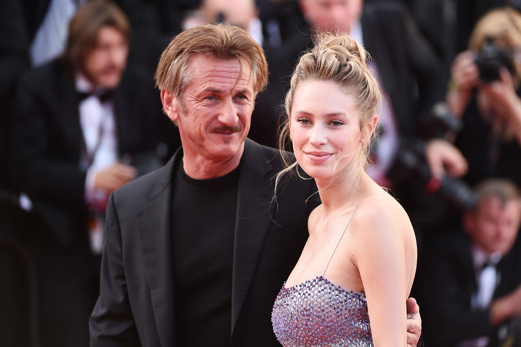 ". (L-R)  Director Sean Penn and his daughter Dylan Penn attend ""The Last Face\"" Premiere during the 69th annual Cannes Film Festival at the Palais des Festivals on May 20, 2016 in Cannes, France.  (Photo by Ian Gavan/Getty Images)"