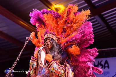 Big Chief Monk Boudreaux with Johnny Sansone - Bogalusa Blues & Heritage Fest - 09-29-2017