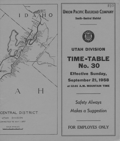 Union Pacific Timetables