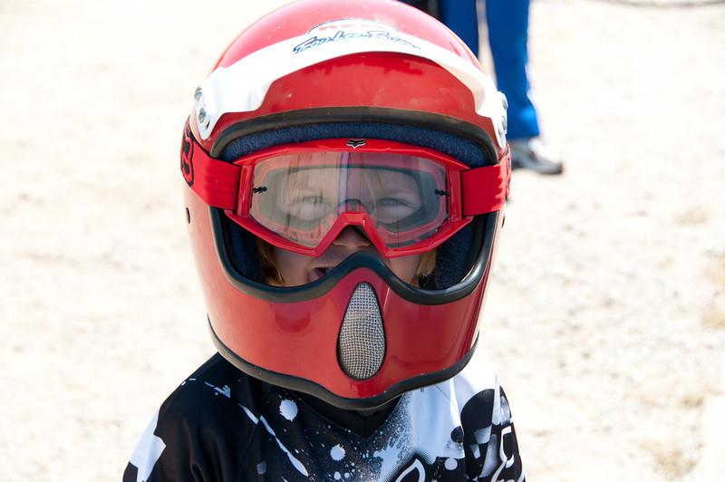 Saxon ready to ride.