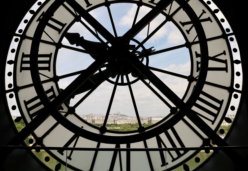 View from a clock inside the Musée d'Orsay