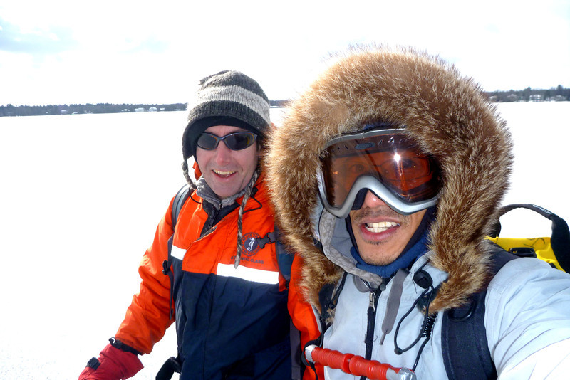 2012-Jan: Ice fishing on Lake Simcoe