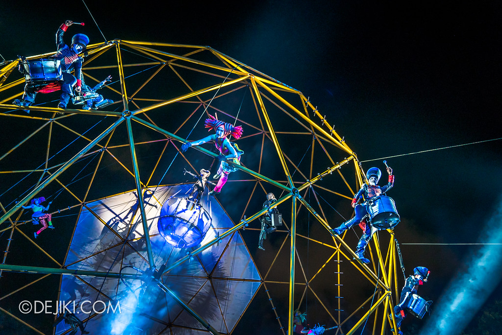 Singapore Night Festival / GLOBE by Close-Act Theatre show - Grand Finale Sphere Drama
