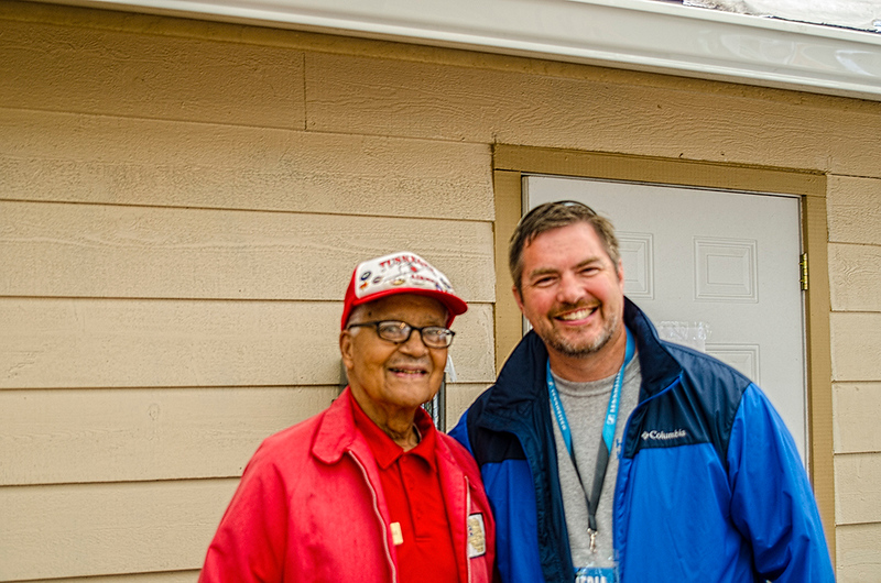 Colonel Chales McGee member of the Tuskegee Airmen.  409 combat fighter missions flown in WWII, Korea and Vietnam.
