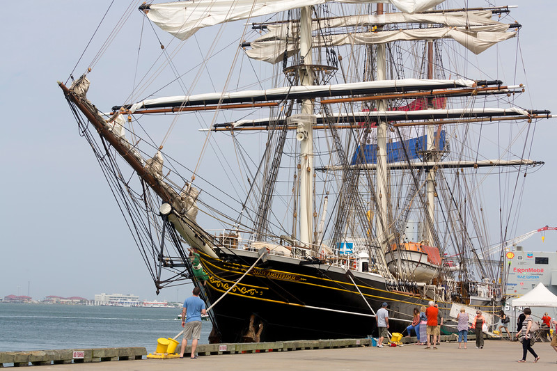 Closer look at the Stad Amsterdam