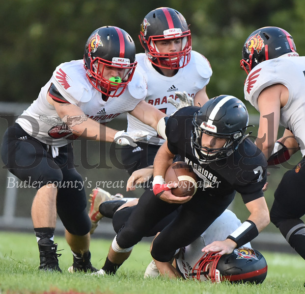 Moniteau vs Bradford District 9 football game at Moniteau stadium