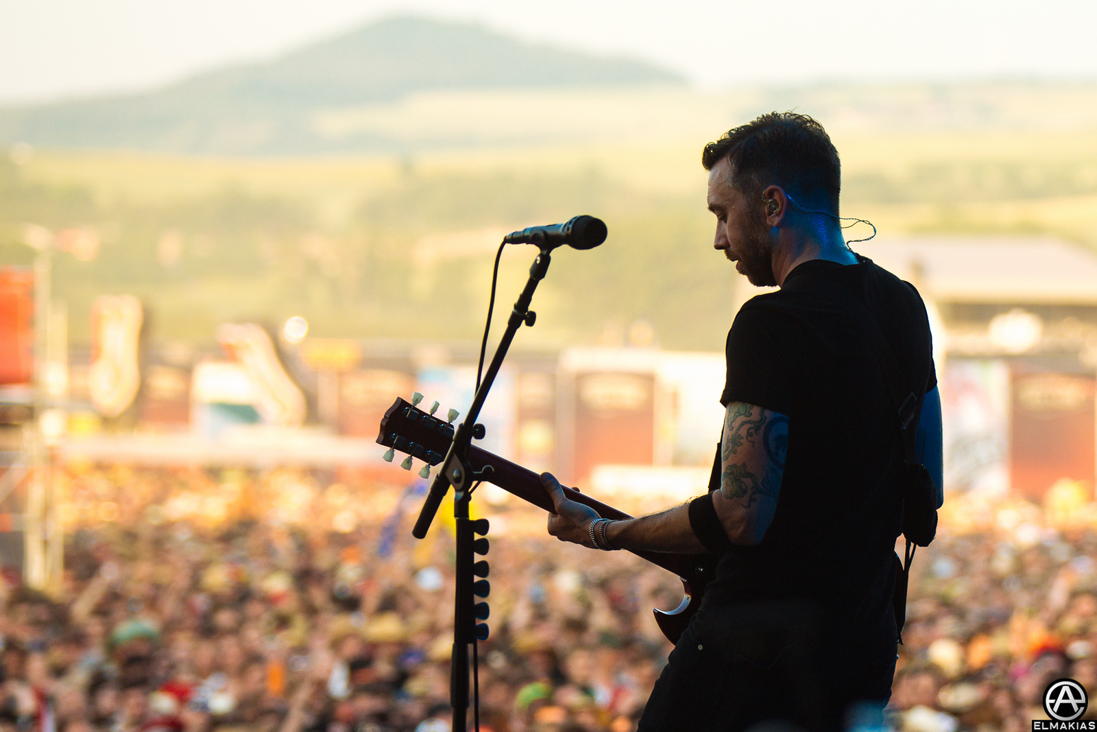 Tim McIlrath of Rise Against live at Rock AM Ring