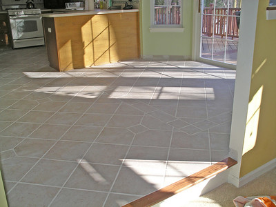 New Tile Floor in Kitchen