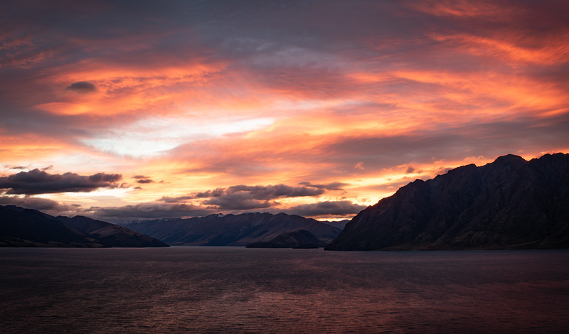 Lake Hawea lookout point