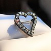 Victorian Rose Cut Witches Heart Pin 1