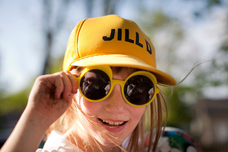 Sage Hesse rocking some sunglasses during a graduation party for Jill on May 7, 2011.  (Jay Grabiec)