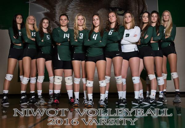 NHS Varsity Volleyball Team & Individual Photoshoot - 2016