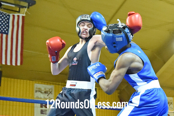 Bout 4 Solomon Howell, Red Gloves, King's Gym -vs- Kemp Tarver, Blue Gloves, Blue Steel BA, 132 Lbs, Novice, 2 Min. Rds.