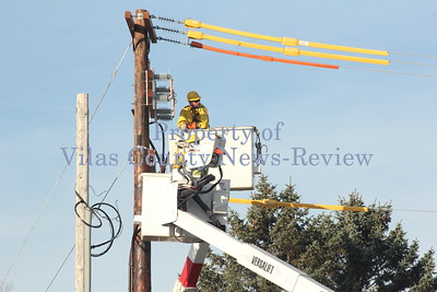 Power Line Work in Eagle River