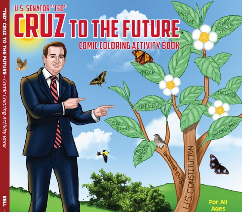""". <p>16. TED CRUZ <p>Government Shutdown Boy proves that just about anyone, and anything, can get elected in Texas. <p><b><a href=\'http://www.huffingtonpost.com/2013/11/09/jay-leno-ted-cruz-shutdown_n_4246586.html\' target=\""""_blank\""""> HUH?</a></b> <p>    (AP Photo/Really Big Coloring Books Inc.)"""
