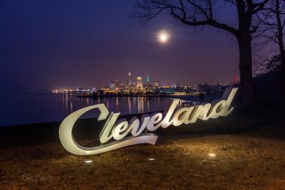 Cleveland Skyline moons