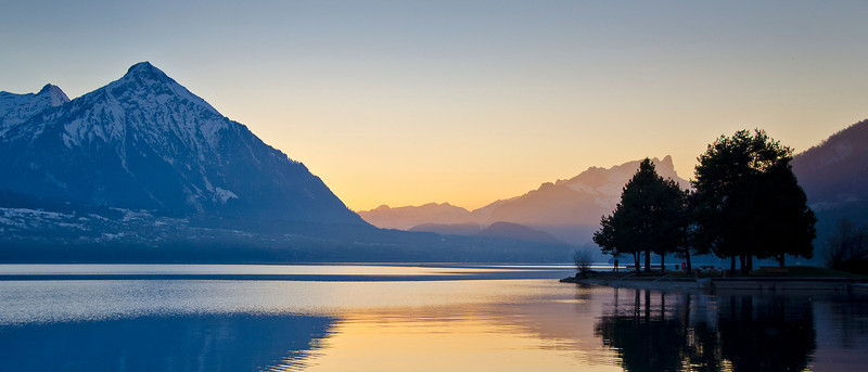 Sunset on the Thunersee.  Interlaken, Switzerland.
